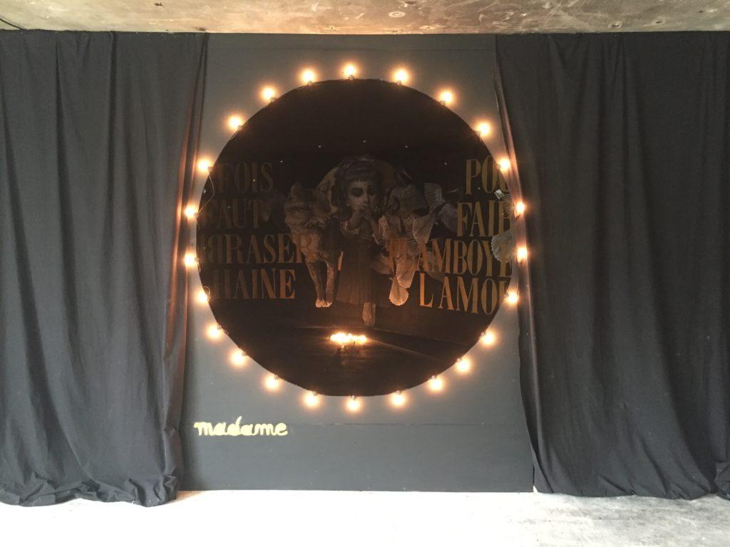 Madame Moustache street art - exposition Les Capucines de l'art
