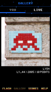 App Flashinvaders Invader LY_44 à Lyon