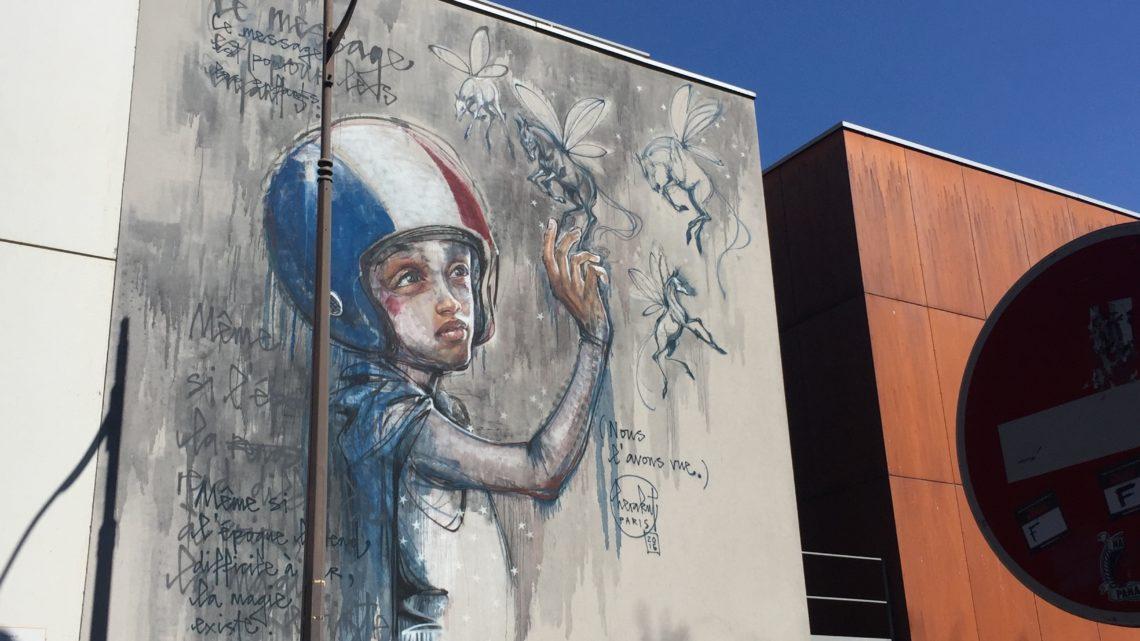 Promenade Street Art dans le quartier des Frigos, 13ème arrondissement de Paris