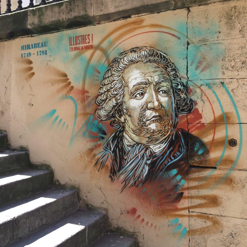 Mirabeau Pochoir de Christian Guémy alias C215 autour du Panthéon