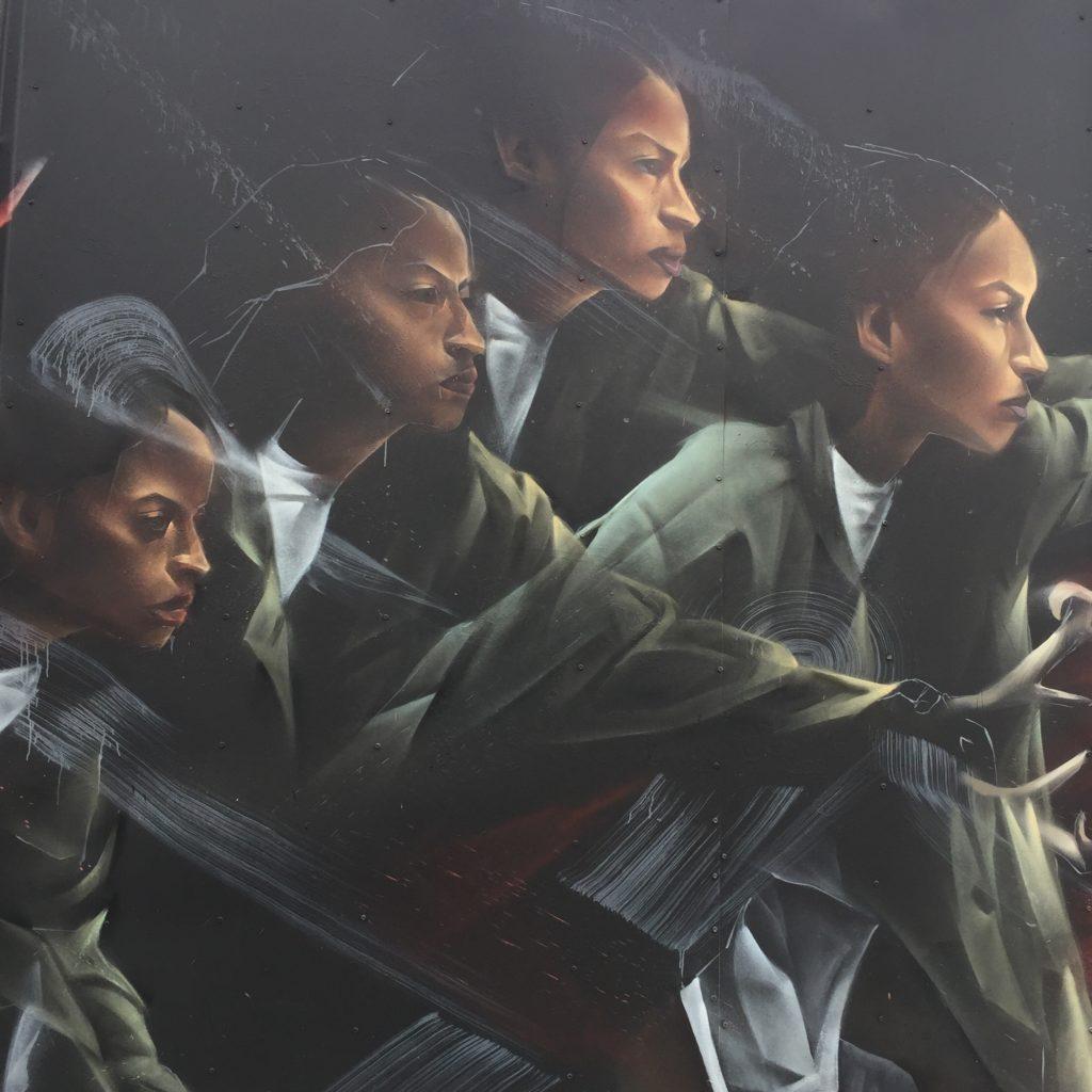 Détail de la fresque de l'artiste Li-Hill