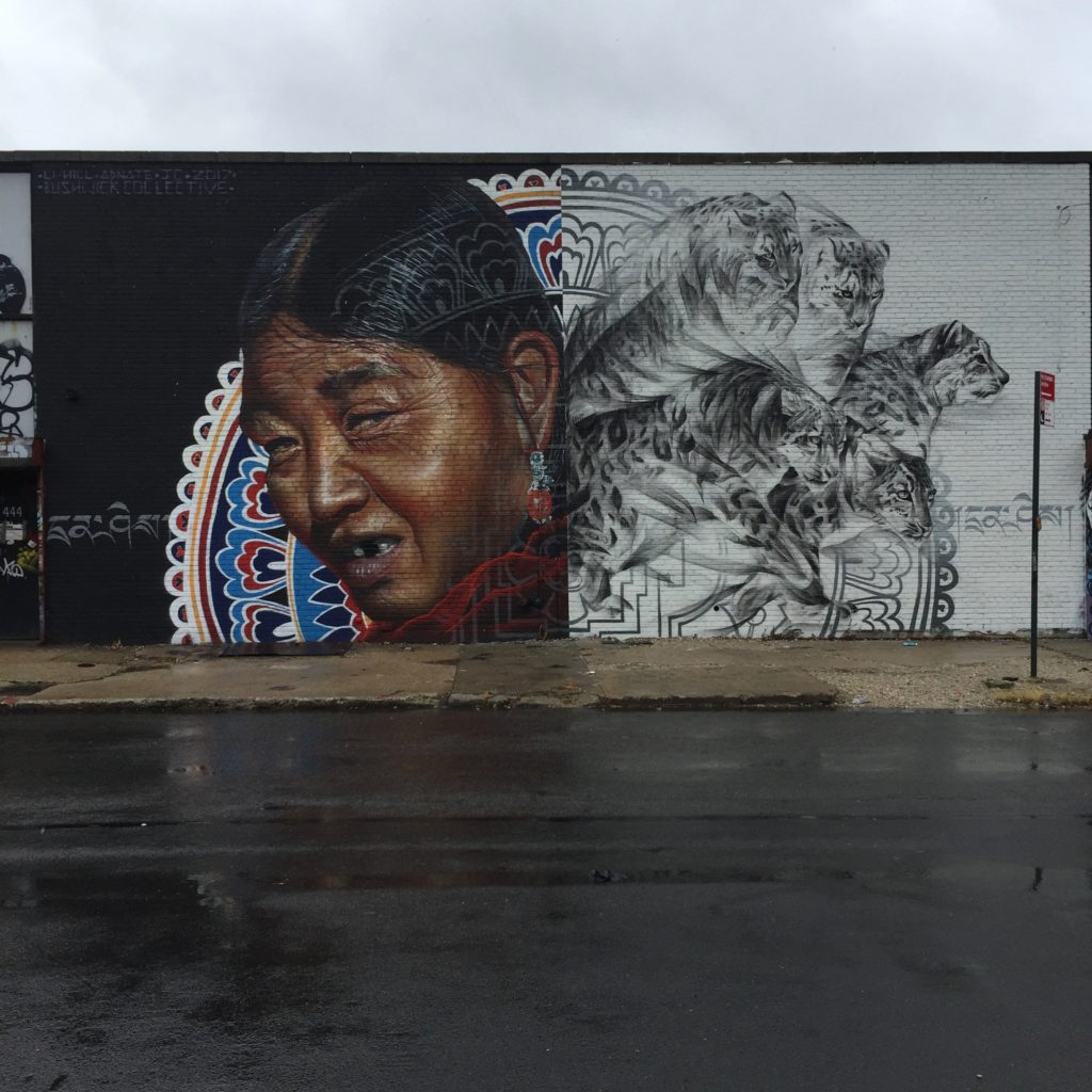 "Fresque ""Freedom"" de l'artiste Canadien Li-Hill au Bushwick Collective"