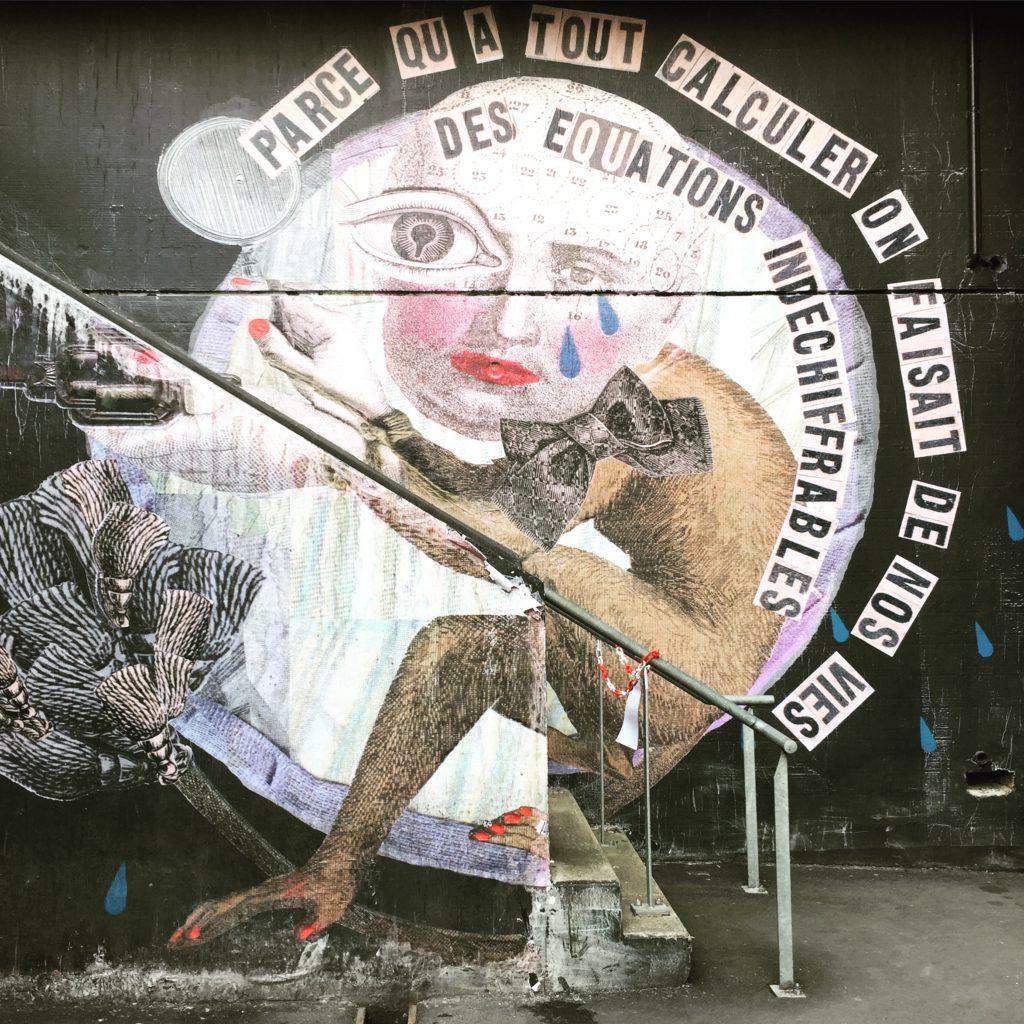 Oeuvre de l'artiste Madame Moustache - Street Art