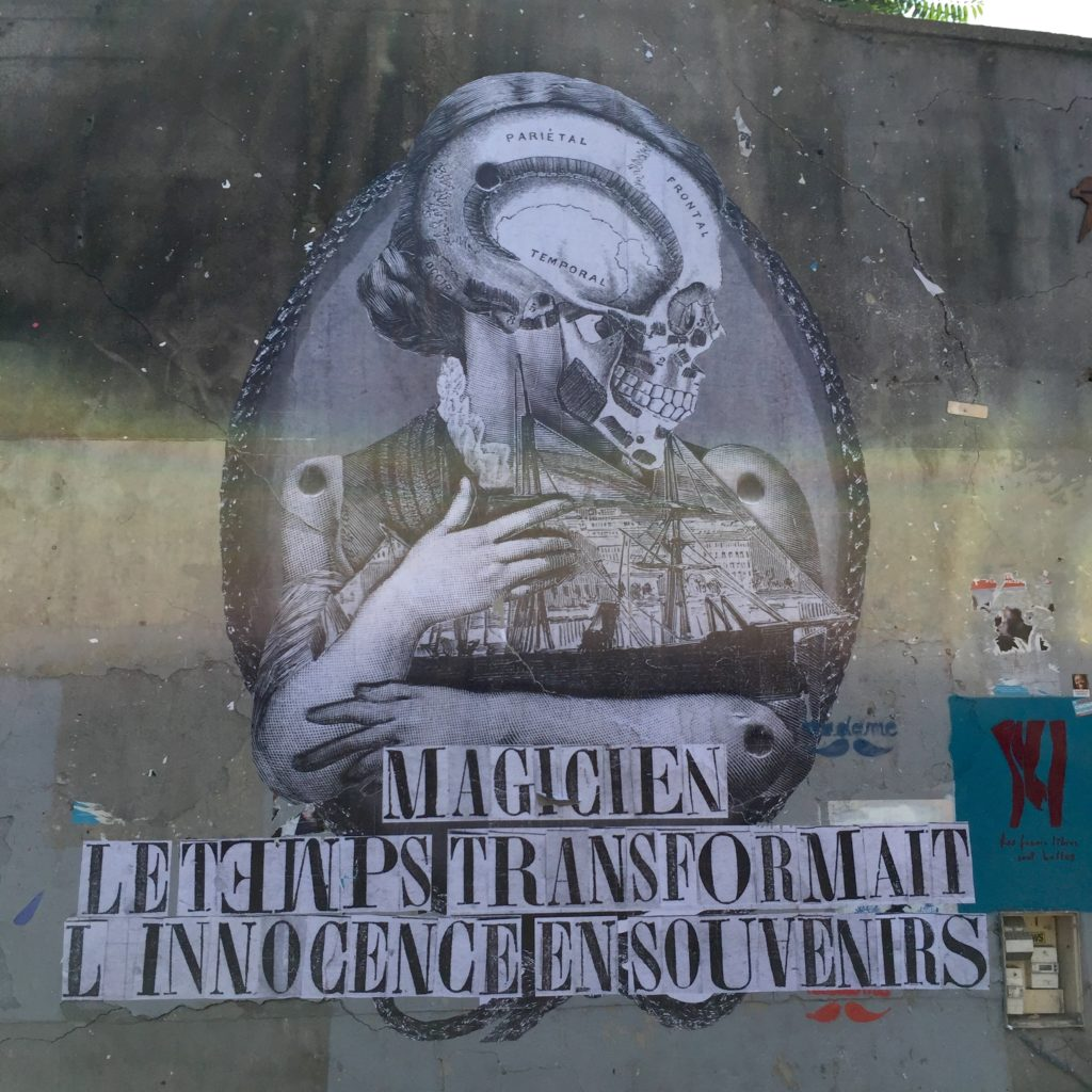 oeuvre Street Art Paris - Madame Moustache