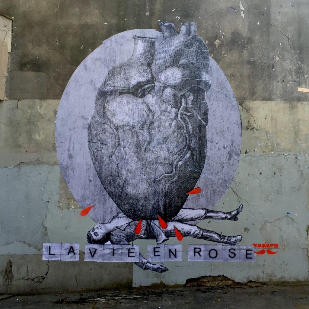 oeuvre de Madame Moustache - Street Art Paris