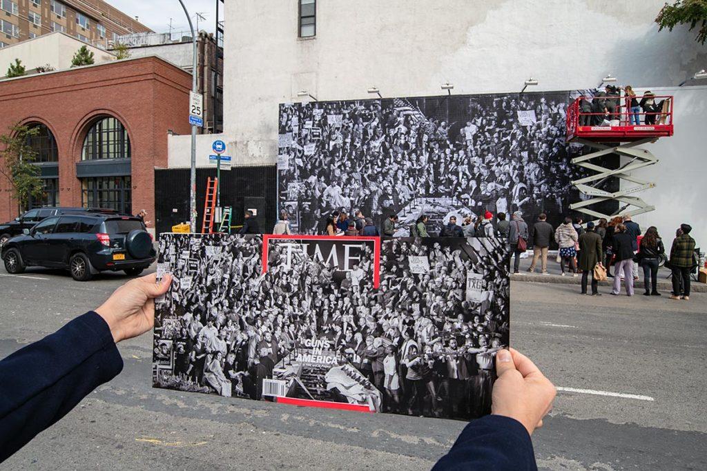 Houston Bowery wall et couverture du Time Magazine par JR